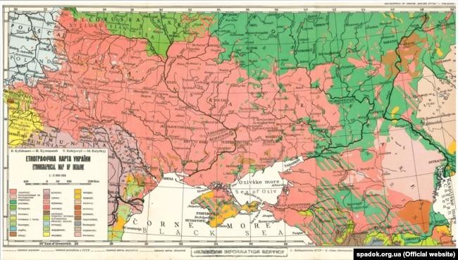 В. Кубійович, М. Кулицький «Етнографічна карта України», видана у 1949 році в Мюнхені
