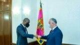 Ambasadorul SUA în R. Moldova, Dereck J Hogan, și președintele R. Moldova, Igor Dodon