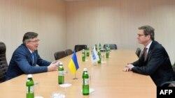 Переговоры в Киеве министров иностранных дел Украины и Германии Леонида Кожары и Гидо Вестервелле