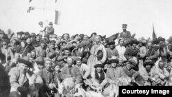Мусульмане-охотники Семиречья. Фото Павла Лейбина из «Альбома Фольбаума» (1913 год).