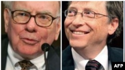 Warren Buffet (solda) və Bill Gates