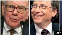 Uaren Bafet (majtas) dhe Bill Gejts janë ndër njerëzit më të pasur në botë