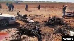 La locul exploziei în satul Sousian
