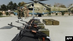 The United States has provided hundreds of thousands of weapons to Afghan security forces since 2004. (file photo)