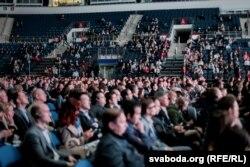 Сотні гледачоў на ІТ-канфэрэнцыі Hi-tech Nation у Менску, 20 красавіка 2018