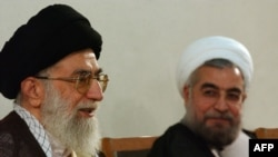 It appears Iranian Supreme leader Ayatollah Ali Khamenei (left) is onboard with new President Hassan Rohani's (right) change of tack in dealing with the West.