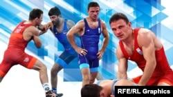 Ленур Темиров, борец олимпийской сборной Украины по греко-римской борьбе, комбинированное фото