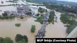 Поплавите во Обреновац во Србија