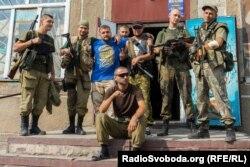 Українські бійці у Мар'їнці
