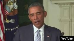 Барак Обама виступає через відео перед єврейською громадою США про іранську ядерну угоду, 28 серпня 2015 року