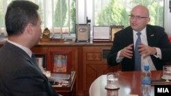 Средба на премиерот Никола Груевски со заменик помошникот на државниот секретар на САД Филип Рикер.