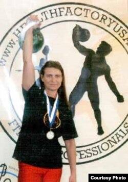 Татьяна Потемкина, заслуженный мастер спорта по гиревому виду спорта. Нью-Йорк, сентябрь 2011 года.