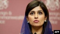 Министр иностранных дел Пакистана Хина Раббани Хар. Лондон, 21 февраля 2012 года.