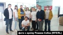 Група українських медиків, яка допомагала італійцям