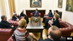 Верските поглавари кај претседателот Стево Пендаровски