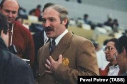 Лукашэнка на Алімпіядзе ў Нагана. 18 лютага 1998 году