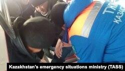 Оказание медицинской помощи пассажиру автобуса, сгоревшего на автодороге Самара – Шымкент в Иргизском районе Актюбинской области.18 января 2018 года.