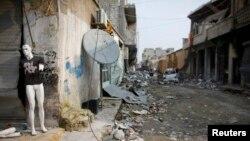 Соғыстан бүлінген Кобани қаласы. Сирия. 29 қаңтар 2015 жыл.