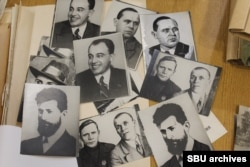 Samples of retouching done by Vladimir Tsetnarovsky from the investigation file into the photograph. The file is now in the Soviet SBU secret police archives in Kyiv.