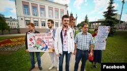 Владимирская команда Навального во время митинга 12 июня