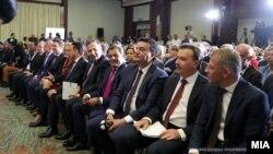 """Илустрација, Премиерот Заев Заев и министрите во Владата на дебатата """"Две години Влада"""""""