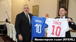 Bulgarian and Italian prime minsiters Borissov and Conte