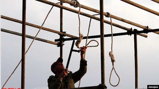 "A soldier prepares a noose for a public execution. The recent hanging of 16 Baluch ""bandits"" is contributing to a cycle of violence."