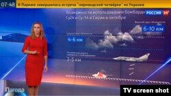 According to one Russian TV station, the weather in Syria is currently ideal for a bombing campaign.