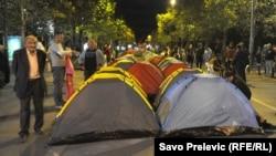 Антиурядова демонстрація в Подгориці, Чоногорія, 27 вересня 2015 року
