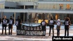 Акция в поддержку задержанных оппозиционеров в Минске