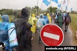 Міліцыя перакрывае ўезд у Будслаў — але не праход