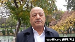 Бывший председатель Наманганского областного отделения запрещенной в Узбекистане оппозиционной партии «Бирлик» Мухаммадали Корабоев после своего выхода на свободу.