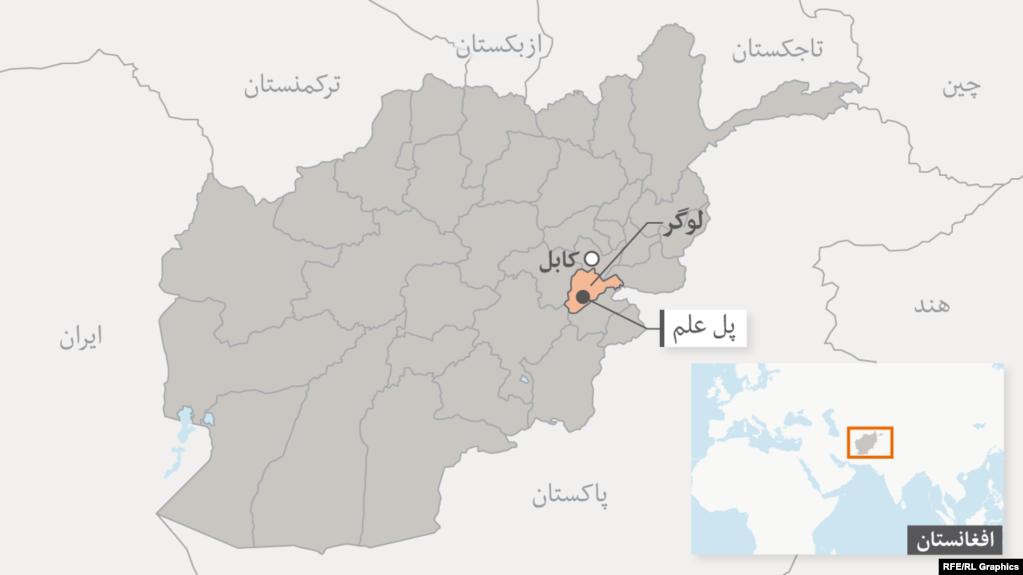 ولایت لوگر در نقشه عمومی افغانستان