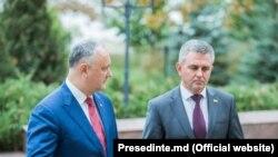 Igor Dodon și Vadim Krasnoselski la Holercani, 29 octombrie 2019