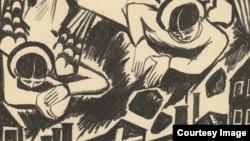 Наталия Гончарова. Град обреченный. Из литографического цикла «Война». 1914.