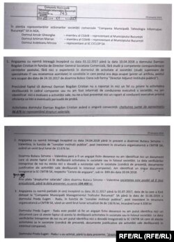 Fragmente din raportul a patru dintre membrii Consiliului de Administrație
