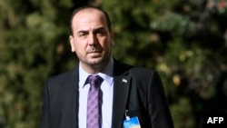 Nasr al-Hariri, lead negotiator for Syria's main opposition group, the High Negotiations Committee