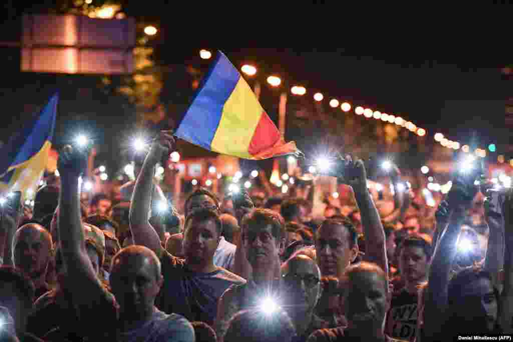 "On August 11, a second night of protests followed as President Klaus Iohannis condemned as ""disproportionate"" the use of force by security forces during the clashes of August 10."