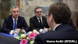 Milo Đukanović i Aleksandar Vučić u Beogradu, fotoarhiv