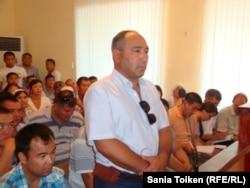 Шартты жазаға кесілген Жаңбыр Ерғазев. Ақтау, 2 тамыз 2012 жыл