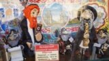 """Сувэнір """"Абраша"""" на плошчы Свабоды ля ратушы ў Менску. Фота Шымона Брымана. Ілюстрацыйнае фота."""