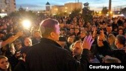 Ռուսաստան - Մզկիթի կառուցման ծրագրի դեմ բողոքի հանրահավաքը Մոսկվայի Միտինո շրջանում, 19-ը սեպտեմբերի, 2012թ.