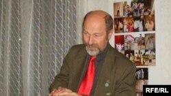 Алег Трусаў падчас прэзэнтацыі.