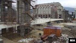 Коритото на реката Вардар во Скопје.