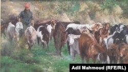 لوحة من معرض الفنان صادق جعفر