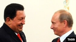Russia's Vladimir Putin (right) with Venezuela's Hugo Chavez -- two leaders with similar views on the rule of law?
