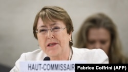 UN High Commissioner for Human Rights Michelle Bachelet (file photo)