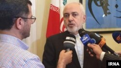 Mohammad Javad Zarif, Iran's foreign minister, speaks with reporters in New York on July 14.