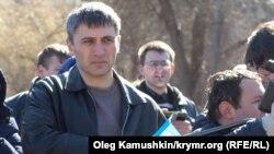 Акція біля пам'ятника Тарасу Шевченку в Сімферополі 9 березня 2015 року