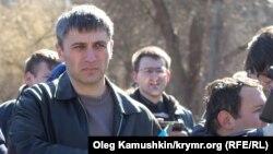 Вельдар Шукурджієв на мітингу пам'яті Тараса Шевченка в Сімферополі, 9 березня 2015 року